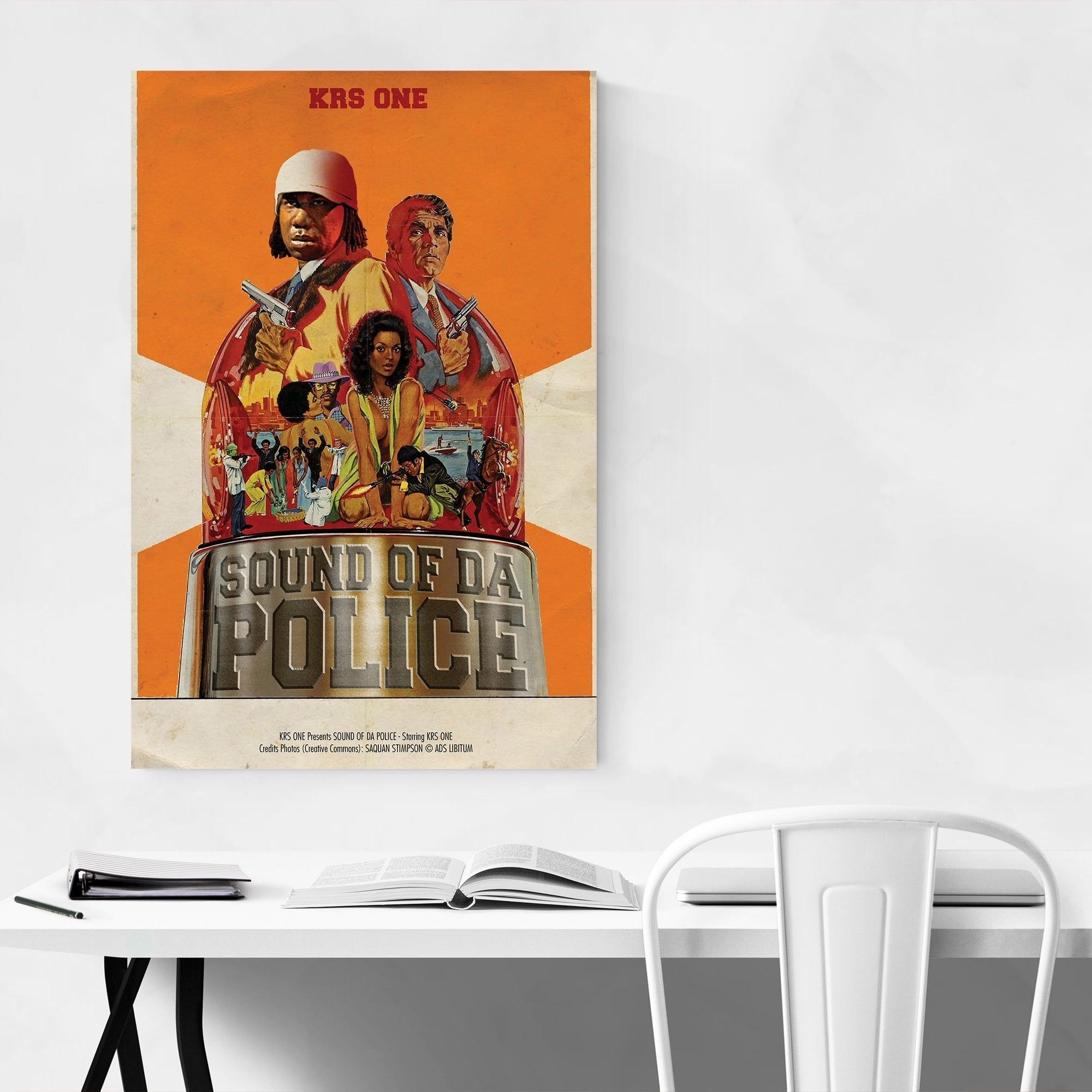 Art print POSTER CANVAS KRS-One 2