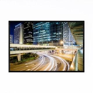 Noir Gallery Hong Kong Night Cityscape Framed Art Print