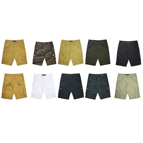 XRAY Mens Relaxed Fit Double Pocket Cargo Shorts