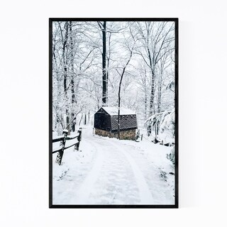 Noir Gallery Barn Snow Winter Pennsylvania Framed Art Print