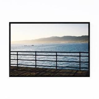 Noir Gallery Santa Monica Pier California Framed Art Print