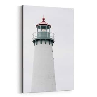 Noir Gallery Coastal Lighthouse Detroit MI Canvas Wall Art Print