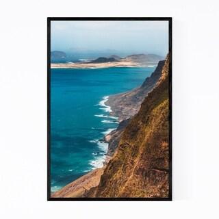 Noir Gallery Lanzarote Canary Islands Cliffs Framed Art Print