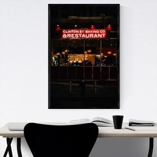 Noir Gallery Restaurant Neon Sign New York Framed Art Print