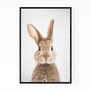 Noir Gallery Rabbit Nursery Peeking Animal Framed Art Print