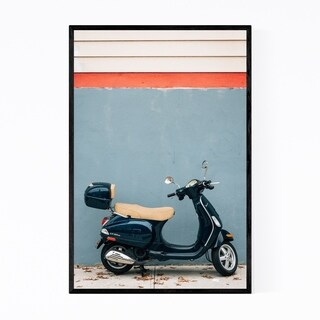 Noir Gallery Scooter Bike Brooklyn NYC Framed Art Print