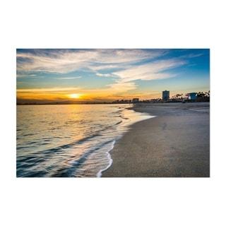 Noir Gallery Long Beach California Sunset Unframed Art Print/Poster