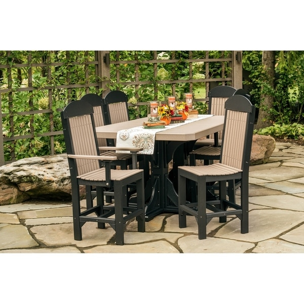 Outdoor Bar Height Dining Set Table 4 Regular Chairs 2 Captain Free Shipping Today 27448044
