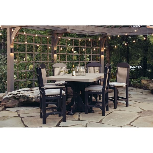 Brilliant Outdoor Bar Height Dining Set Table 4 Regular Chairs 2 Captain Chairs Uwap Interior Chair Design Uwaporg