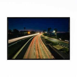 Noir Gallery Highway at Night Framed Art Print