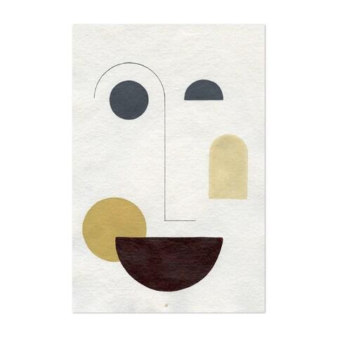 Noir Gallery Abstract Minimal Geometric Faces Unframed Art Print/Poster
