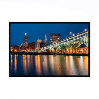 Noir Gallery Cleveland, Ohio Skyline Photo Framed Art Print