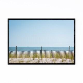 Noir Gallery Rockaway Beach Dunes New York Framed Art Print