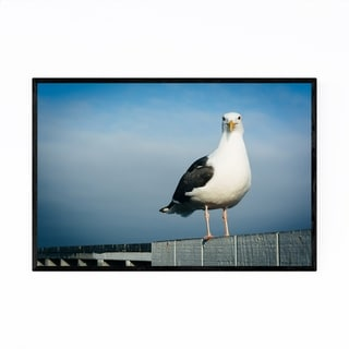Noir Gallery Seagull Santa Cruz California Framed Art Print