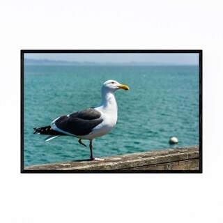 Noir Gallery Seagull in Capitola California Framed Art Print