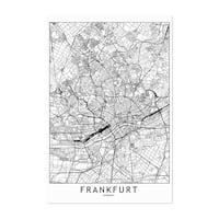 Noir Gallery Frankfurt Black & White City Map Unframed Art Print/Poster