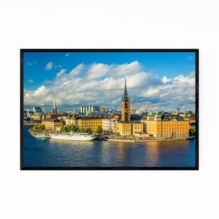 Noir Gallery Stockholm Old Town View Framed Art Print