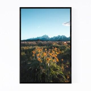 Noir Gallery Grand Tetons Mountains Wyoming Framed Art Print