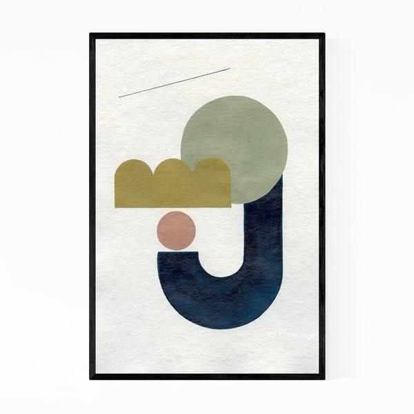 Letter Art Print.Shop Noir Gallery Abstract Minimal Moon J Letter Framed Art