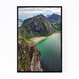 Noir Gallery Lofoten Norway Beach Mountains Framed Art Print