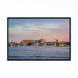 Noir Gallery Baltimore Inner Harbor Maryland Framed Art Print