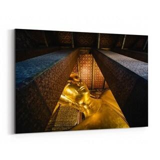 Noir Gallery Bangkok Wat Pho Reclining Buddha Canvas Wall Art Print