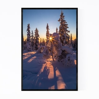Noir Gallery Lapland Finland Winter Forest Framed Art Print