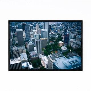 Noir Gallery Seattle Downtown City Skyline Framed Art Print