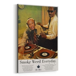 Noir Gallery Dr. Dre Snoop Dogg Smoke Weed Canvas Wall Art Print