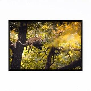 Noir Gallery Leopard Animal Wildlife India Framed Art Print