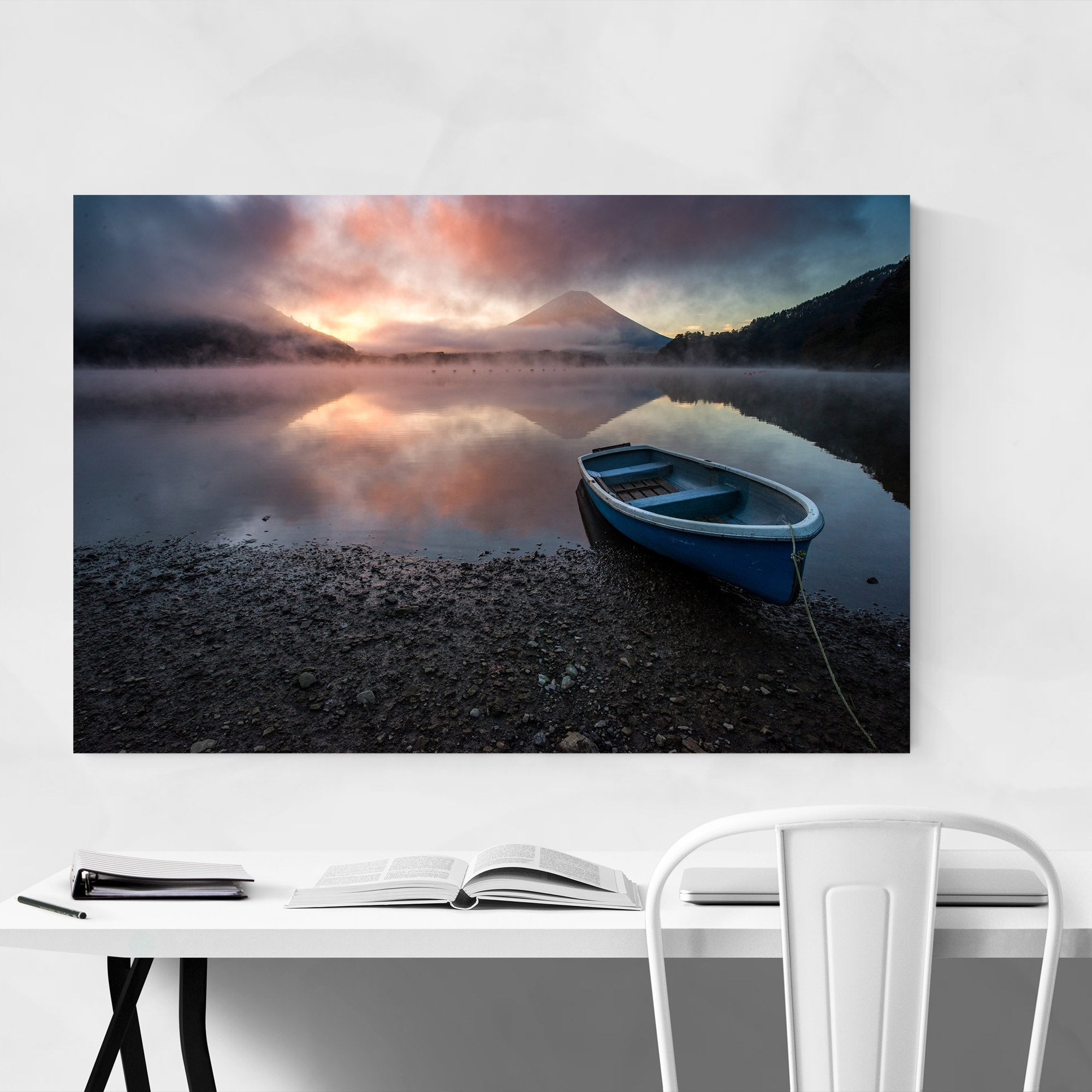 Japanese Lake Canvas Wall Art Picture Print
