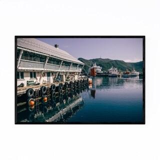 Noir Gallery Honningsvåg Norway Harbor Framed Art Print