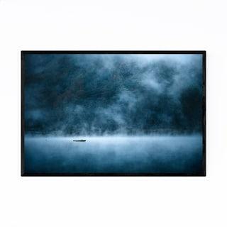 Noir Gallery Boat Lake Shoji Fuji Japan Framed Art Print