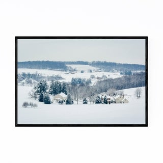 Noir Gallery Pennsylvania Winter Snow Farms Framed Art Print
