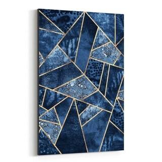 Noir Gallery Leaf Geometric Digital Art Deco Canvas Wall Art Print