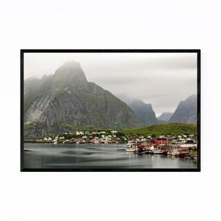 Noir Gallery Lofoten Norway Reine Mountains Framed Art Print