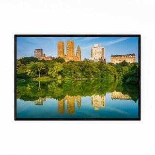 Noir Gallery Central Park Lake New York City Framed Art Print