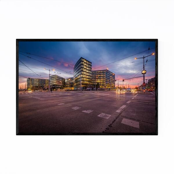 Shop Black Friday Deals On Noir Gallery Vienna Austria Streets At Sunset Framed Art Print Overstock 27449934