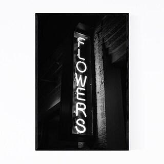 Noir Gallery Flowers Neon Sign New York City Framed Art Print