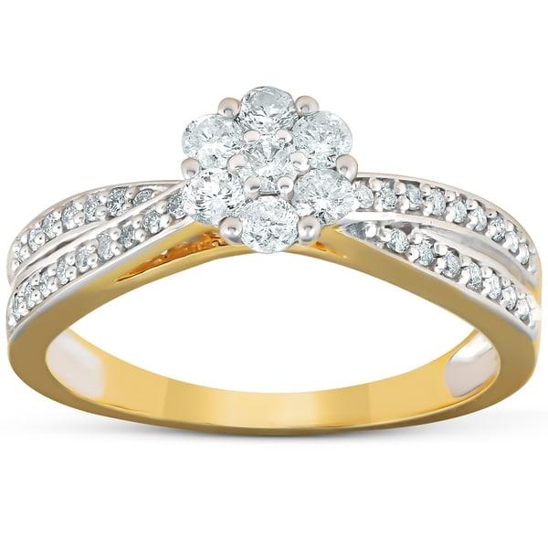 Shop Pompeii3 10k Yellow Gold 1/2 Ct TDW Diamond