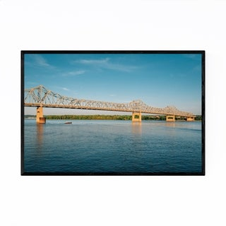 Noir Gallery Peoria, Illinois Bridge River Framed Art Print