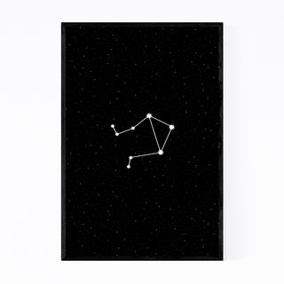 Noir Gallery Night Sky Libra Astrology Zodiac Framed Art Print