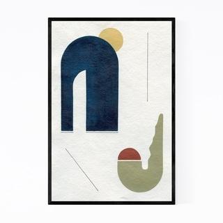 Noir Gallery Abstract Minimal Geometric Shape Framed Art Print