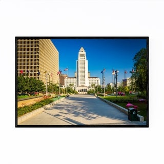 Noir Gallery City Hall Downtown Los Angeles Framed Art Print