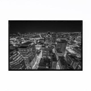 Noir Gallery Black & White Baltimore Skyline Framed Art Print