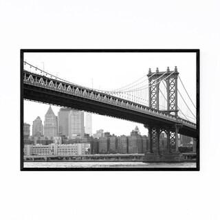 Noir Gallery Manhattan Bridge New York City Framed Art Print