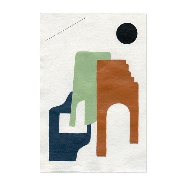 Noir Gallery Abstract Geometric Minimal Adobe Unframed Art Print Poster