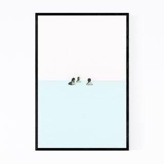 Noir Gallery Abstract Geometric Swimming  Framed Art Print
