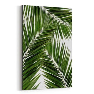 Noir Gallery Beach Coastal Palm Tree Leaf Canvas Wall Art Print