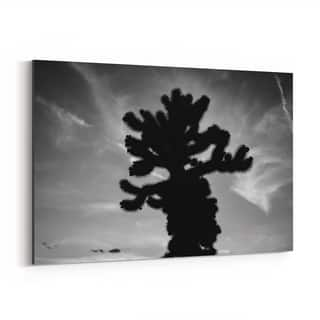 Noir Gallery Cholla Cactus Desert Joshua Tree Canvas Wall Art Print
